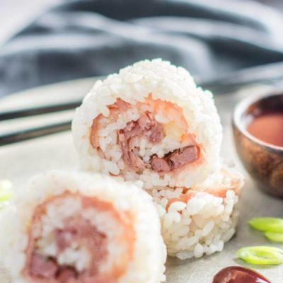 Smoked Duck Sushi with Blackberry Dipping Sauce